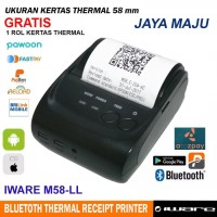 MINI THERMAL PRINTER BLUETOOTH IWARE M58-LL