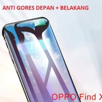 SOFT Tempered Glass OPPO FIND X Depan Belakang Screen Guard Full Cover