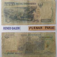 1.000/1000 Rupiah lompat batu nias danau Toba 1992 bekas uang kuno