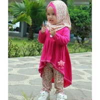 Grosir Gamis Baju Muslim Balita Perempuan 1 2 Tahun Varian Farah Legg