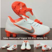 dcfb51a2b4af Sepatu Bola Nike Mercurial Vapor XII Pro White FG Replika Import