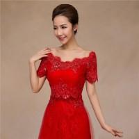 B-049 Bolero Merah - Gaun Pengantin Wedding Gown Wedding Dress