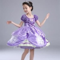 Dress Baju Costume Kostum Gaun Princess Sofia the first
