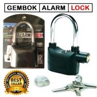 Gembok Alarm Anti Maling Safety Sirene Untuk Rumah Motor Toko Gudang