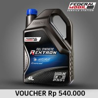 E-Voucher Retail Federal Mobil Rextron 5W 30 Full Synthetic 4L