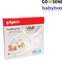 Jual PIGEON Mini Feeding Set BPA Free - Peralatan Tempat Makan Sendok Bayi Murah