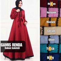 GBH5 Gamis Renda Bahan Baloteli Baju Kekinian Atasan Muslim Dress