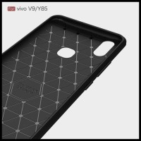 CASE / CASING HP VIVO V9 IPAKY CARBON SOFT SERIES