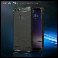 CASE / CASING HP IPAKY CARBON FIBER VIVO V7 PLUS SOFTCASE SHOCKPROOF