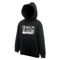 Harga jaket sweater zipper hoodie sleep eat minicarft   Pembandingharga.com