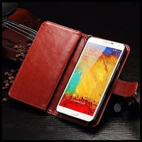 CASE / CASING HP WALLET SAMSUNG NOTE 3 LEATHER WITH 9 CARD SLOT 2 IN 1