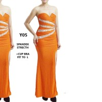 dress baju pesta Y05 long dress - gown night - prom gown