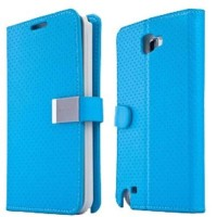 CAPDASE Folder Case Sider Polka Samsung Galaxy Note 2 N7100 Blue