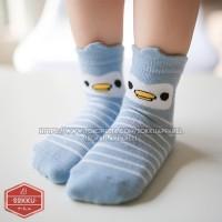 Kaos kaki bayi anak panjang katun import murah lucu motif animal strip