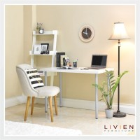 Meja Belajar / Meja Kerja Minimalis White / LIVIEN Furniture