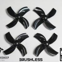 TBS X TINYWHOOP BRUSHLESS RACE PROPS (Black) (1MM HUB)
