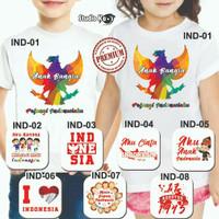 Jual Kaos Kemerdekaan Indonesia untuk Anak / Bayi / Kaos Cinta Indonesia Murah