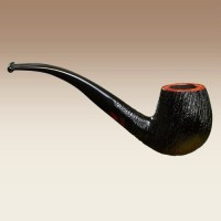 Stanwell Brushed Black Rustico 83 Pipa Cangklong Tobacco Pipe