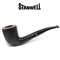 Stanwell Brushed Black Rustico 140 Pipa Cangklong Tobacco Pipe