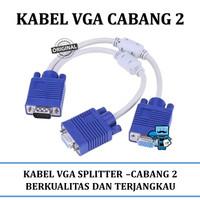 Kabel VGA Cabang 2 - Kabel VGA Splitter