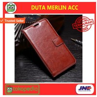 FLIP COVER WALLET Vivo V9 leather case dompet casing hp kulit premium
