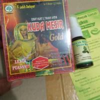 Paket KAPSUL KUDA MESIR GOLD+Minyak Bulus Daun Bungkus isi 20 ml
