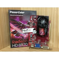 VGA Card PCI-E POWERCOLOR ATI RADEON HD 6570 1GB DDR3 1 DA!!