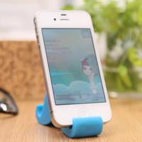 dudukan docking stand HP handphone bentuk kumis lucu unik murah HCR029