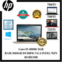 Harga laptop hp 14 bs706tu i3 6006u 4gb 500gb 14hd vga intel win10 | HARGALOKA.