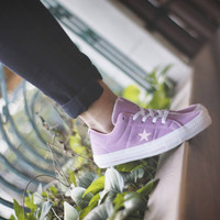 Limited edition sepatu converse one star purple women
