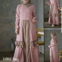 Baju gamis busana muslim wanita dress cewek model terbaru~HANNA