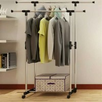 Gantungan Baju / Stand Hanger Double / Jemuran Baju Portable