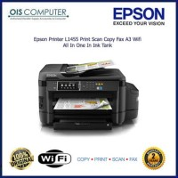 Epson Printer L1455 Print Scan Copy Fax A3 Wifi All In One In Ink Tank