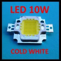 High Power Led 10W Putih \U002F Cold White (6000 - 6500K) 9.5V - 12V