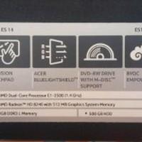 Notbok Notebook Laptop Acer ES 14 AMD Radeon bekas DISKON