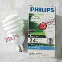 Lampu Philips Tornado Ulir Spiral 24 w Watt 24w 24watt Putih Cool Day.