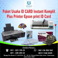Paket Usaha ID CARD Instant Komplit Plus Printer Epson print ID Card