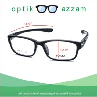 Frame kacamata wanita pria minus antiradiasi Pama ganti lensa