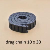 cable drag chain 10x30 mm panjang 1 meter, bisa disambung
