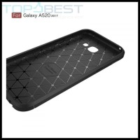 CASE / CASING HP SAMSUNG GALAXY A5 2017 IPAKY CARBON FIBER SOFT SERIES