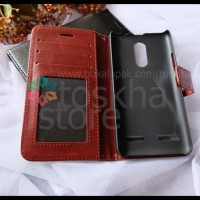 CASE / CASING HP LENOVO K6 POWER WALLET LEATHER