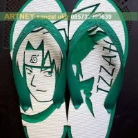 sandal jepit ukir sasuke
