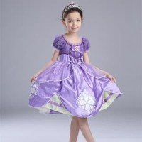 Unik Dress Baju Costume Kostum Gaun Princess Sofia the first Diskon