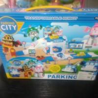 Mainan parking city robocar poli