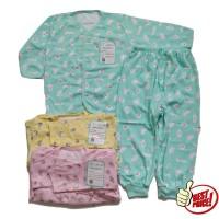 Jelova 3pcs Setelan Baju Anak Baby Bayi 12-18 Months OWL Kancing Depan