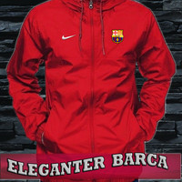 Jaket eleganter waterproof barcelona red