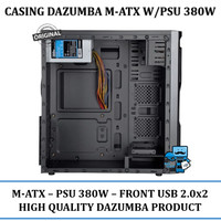 Casing PC CPU Dazumba DE-160 / DE 160 Incude PSU 380W