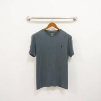 Kaos Merk Polo Ralph Lauren Slim Fit Basic Tee Grey Original Murah