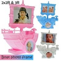 Bingkai Foto Music 7429 Boat w/ (2)2x2.75, 3x4 op. frame, Pink (08930)