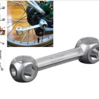 10 in 1 Mini Portable Bicycle Bike Repair Tool / Kunci Tool Sepeda